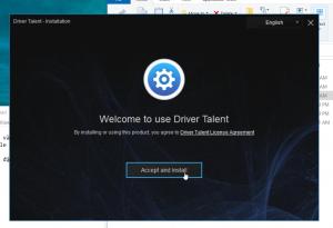 Nhấn Accept and Install để cài đặt Driver Talent Key
