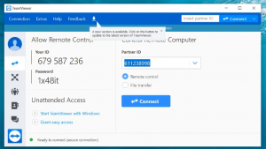 Giao diện teamviewer 14 full
