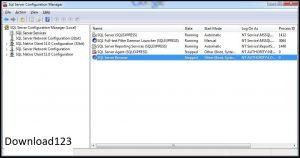 Trong SQL Server Configuration ManagementchọnSQL ServerService