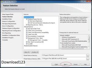 Quá trình cài SQL server 2012 full