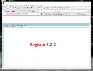Tải Aegisub Full Crack phiên bản 3.2.2