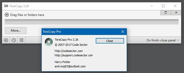 key TeraCopy 3.27