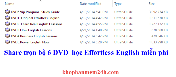 6 DVD effortless english