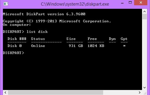 Kiểm tra chuẩn ổ cứng bằng Command Line để biết được là MBR hay GPT *