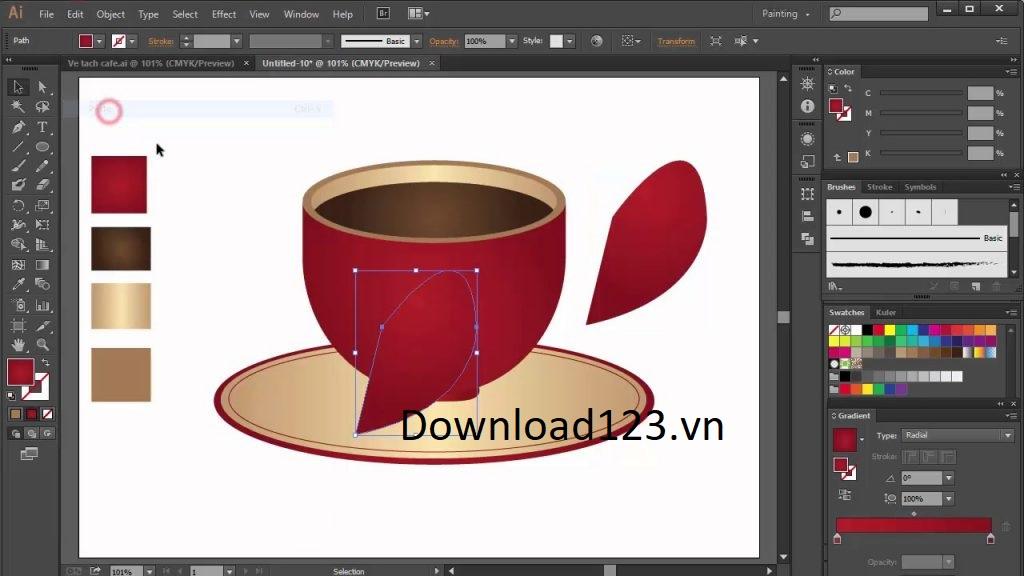 Giao diện Adobe Illstrator CS6 Full Crack