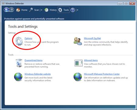 Quá trình tắt Windows Defender Windows 7