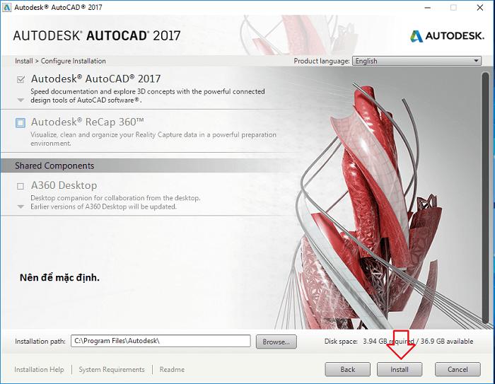 Bạn có thể bỏ tick các ứng dụng không muốn cài thêm và nhấn Install