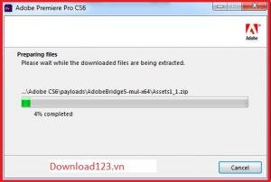 Quá trình tải và cài đặt adobe premiere full crack Cs6