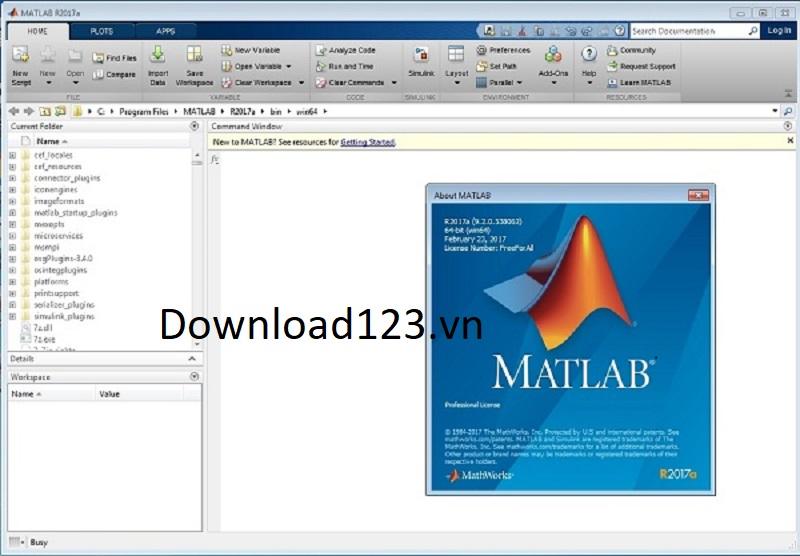 Giao diện Matlab 2017