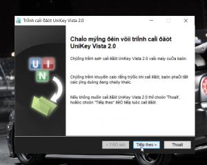 Quá trình cài đặt Unikey Vista 2