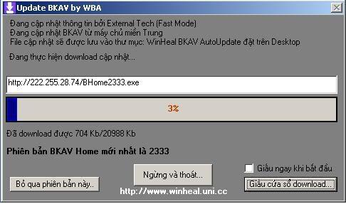 WinHeal BKAV AutoUpdate 2.0