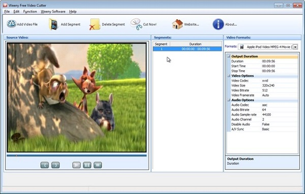 Weeny Free Video Cutter