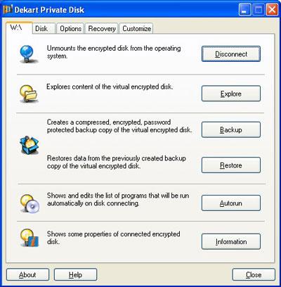 Dekart Private Disk 2.10