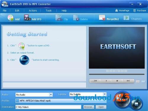 Earthsoft DVD to MP4 Converter
