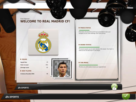 Game FIFA Manager 11 Demo