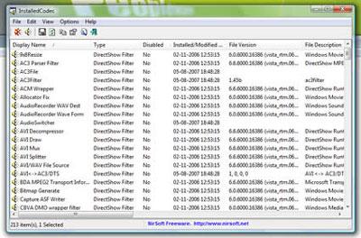 InstalledCodec 1.02
