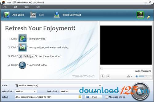 Leawo Free PSP Video Converter