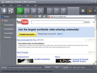 MediAvatar YouTube to MP3 Converter