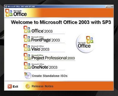Microsoft Office 2003 Service Pack 3