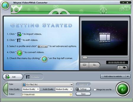 Moyea Video4Web Converter 1.6.2.0