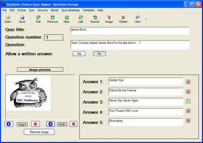 Multiple Choice Quiz Maker 12.8