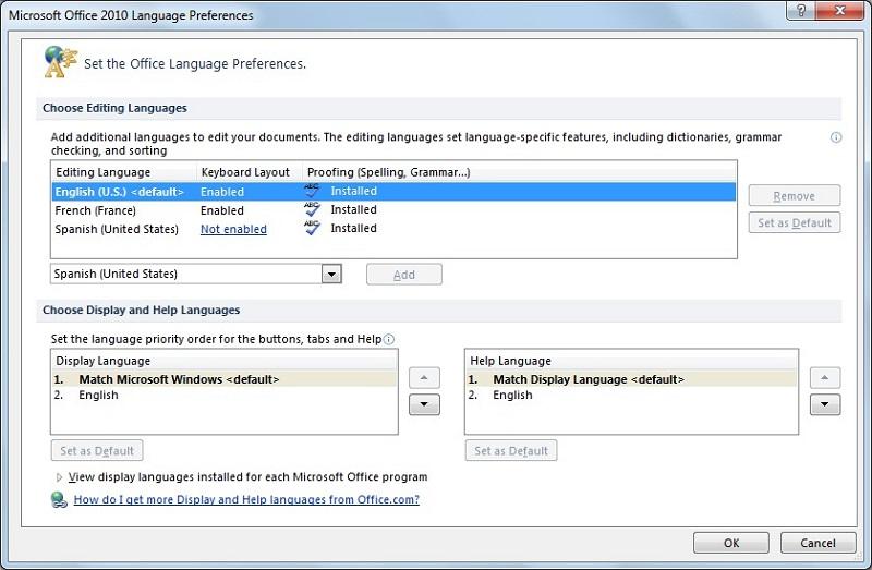 Microsoft Office Language Interface Pack 2007