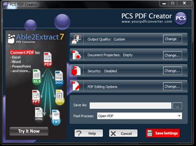 PCS PDF Creator