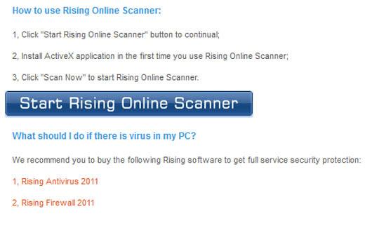 Rising Free Online Scanner