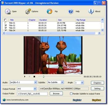Torrent DVD Ripper 2.88