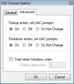 UAC Snooze 1.0.1