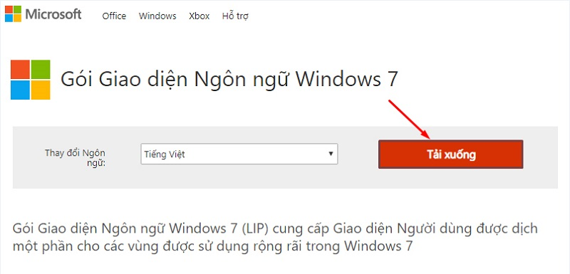 gói giao diện ngôn ngữ windows 7