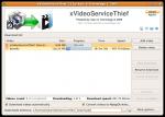 Giao diện phần mềm xVideoServiceThief ubuntu o