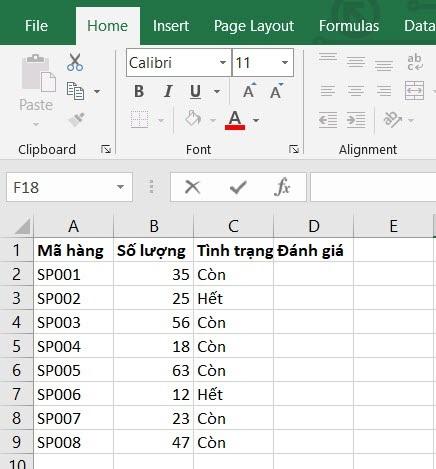 VD1 - Hàm IF với dữ liệu viết hoa, thường