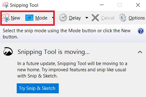 chụp ảnh màn hình với công cụ Snipping Tools