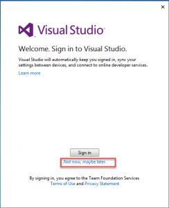 Active Visual Studio 2013