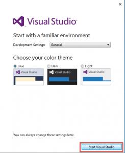 ChọnStart Visual Studio