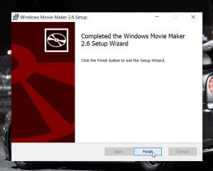 Nhấn Finish để hoàn tất quá trình cài đặt movie maker full crack