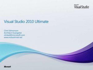 hướng dẫn cài visual studio 2010 ultimate